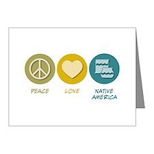Peace Love Native American Studies Note Cards (Pk