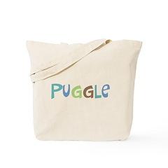 Puggle (Text) Tote Bag