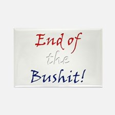 End of the Bushit Rectangle Magnet
