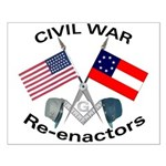 Masonic Civil War Re enactors Small Poster