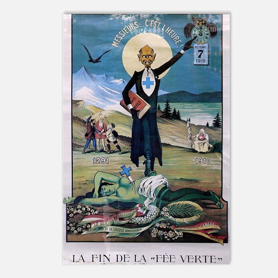 Affiche Absinthe Postcards (Package of 8)