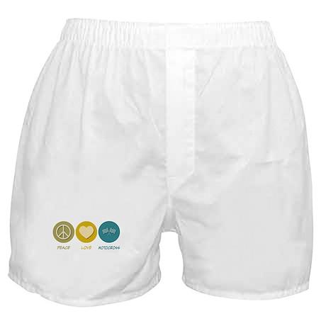 Peace Love Motocross Boxer Shorts