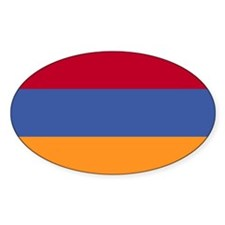 Armenian Flag Oval Decal