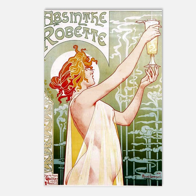 Absinthe Postcards (Package of 8)