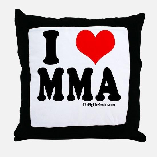 I LOVE MMA Throw Pillow