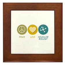 Peace Love Molecular Biology Framed Tile