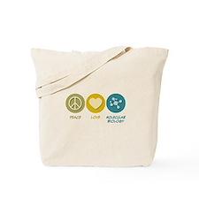 Peace Love Molecular Biology Tote Bag