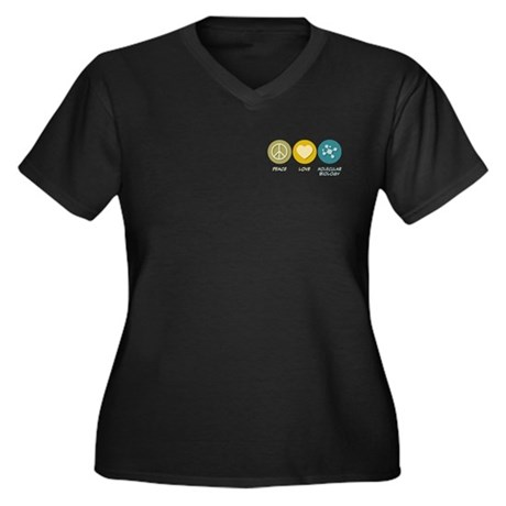 Peace Love Molecular Biology Women's Plus Size V-N