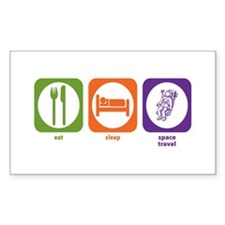 Eat Sleep Space Travel Rectangle Decal