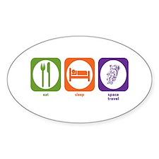 Eat Sleep Space Travel Oval Decal