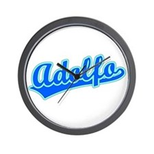 Retro Adolfo (Blue) Wall Clock