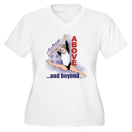 Gymnastics Women's Plus Size V-Neck T-Shirt