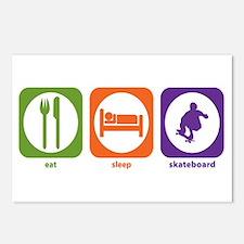 Eat Sleep Skateboard Postcards (Package of 8)