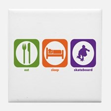 Eat Sleep Skateboard Tile Coaster