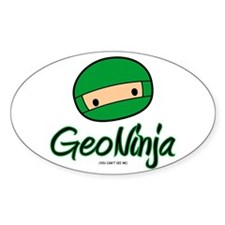 GeoNinja Oval Decal