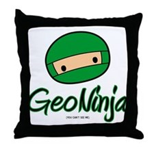 GeoNinja Throw Pillow