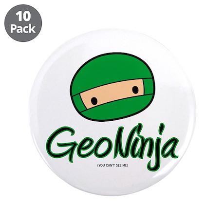 "GeoNinja 3.5"" Button (10 pack)"