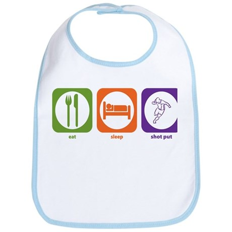 Eat Sleep Shot Put Bib