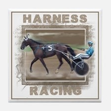 Brown Harness Racing Tile Coaster