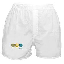 Peace Love Metal Detector Boxer Shorts