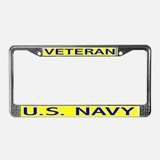 U. S. Navy Veteran License Plate Frame