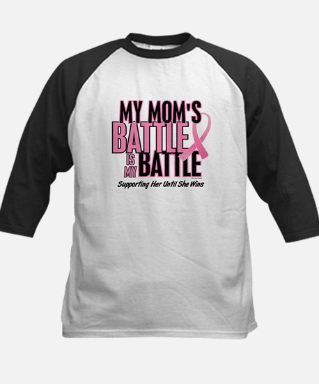 My Battle 1 (Mom BC) Kids Baseball Jersey