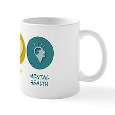 Peace Love Mental Health Mug