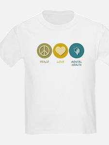 Peace Love Mental Health T-Shirt