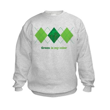 Green is my color Kids Sweatshirt