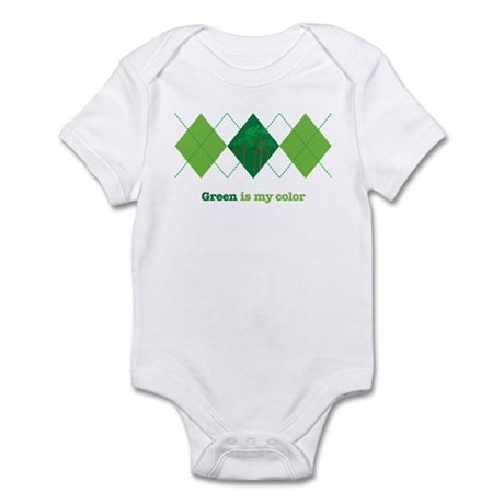 Green is my color Infant Bodysuit