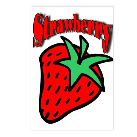 Strawberry Postcards (Package of 8)
