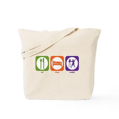 Eat Sleep Sculpt Tote Bag