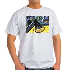 Schipperke Tv watcher Ash Grey T-Shirt