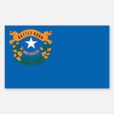 NEVADA-FLAG Rectangle Decal