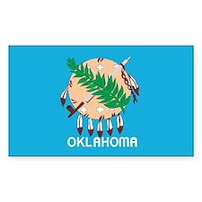 OKLAHOMA-FLAG Rectangle Decal