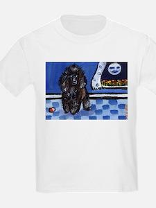 Poodle senses smiling moon Kids T-Shirt