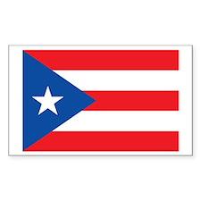 PUERTO-RICO-FLAG Rectangle Decal