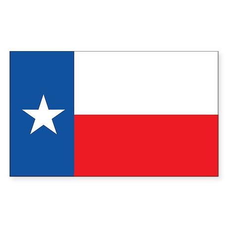 TEXAS-FLAG Rectangle Sticker