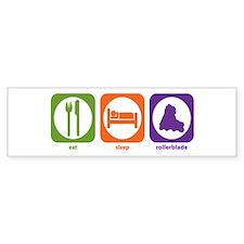Eat Sleep Rollerblade Bumper Bumper Sticker