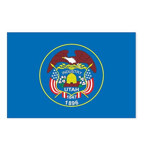 UTAH-FLAG Postcards (Package of 8)