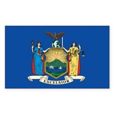 NEWYORK-STATE-FLAG Rectangle Decal