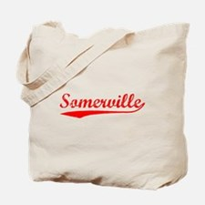 Vintage Somerville (Red) Tote Bag