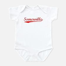 Vintage Somerville (Red) Infant Bodysuit