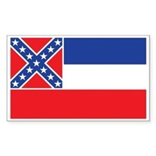 MISSISSIPPI-FLAG Rectangle Bumper Stickers