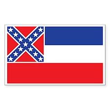 MISSISSIPPI-FLAG Rectangle Decal