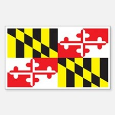 MARYLAND-FLAG Rectangle Decal