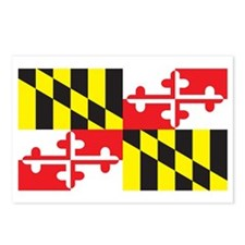MARYLAND-FLAG Postcards (Package of 8)