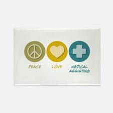 Peace Love Medical Assisting Rectangle Magnet