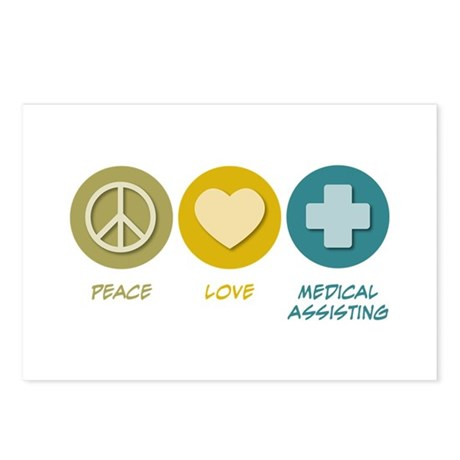 Peace Love Medical Assisting Postcards (Package of