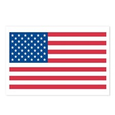 AMERICAN-FLAG Postcards (Package of 8)